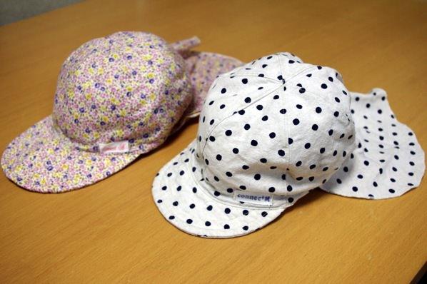 日除けカバー付き帽子