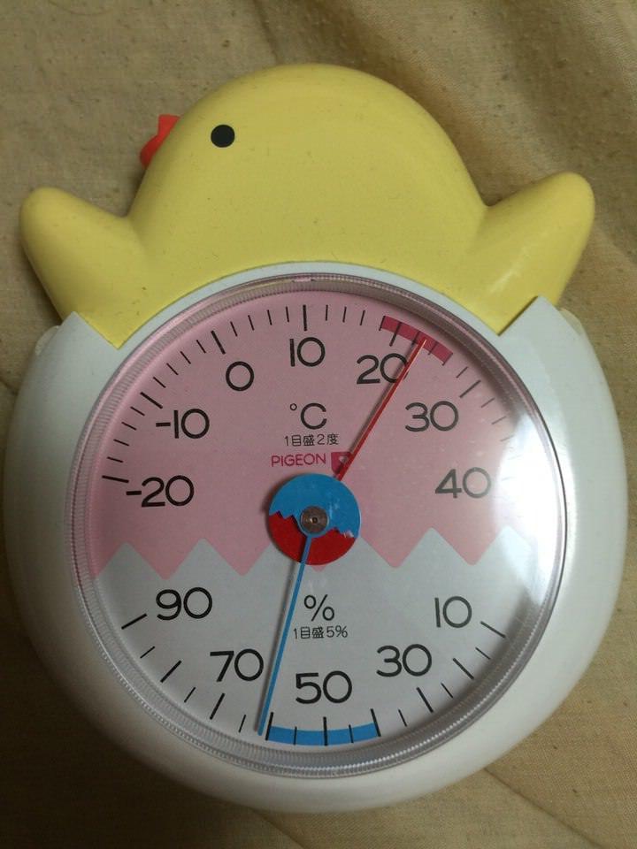 ピジョン 温湿度計 ひよこ
